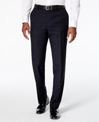 Bar Iii Men's Navy Flat Front Slim Fit Dress Pants Only At Macy's