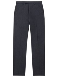 Reiss Ackley Wool And Silk Slim Fit Suit Trousers Navy