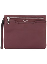 Rag And Bone Zip Medium Clutch Pink And Purple