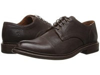 Frye Jack Oxford Dark Brown Buffalo Leather Men's Lace Up Casual Shoes