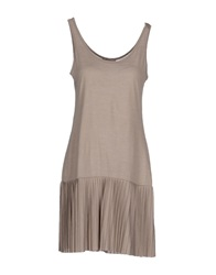 Gaudi' Short Dresses Khaki