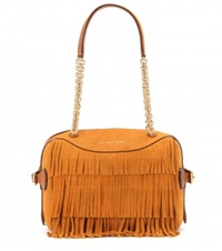 Burberry Mini Bee Fringed Suede Shoulder Bag Yellow
