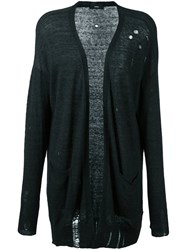 Diesel Distressed Cardigan Black