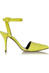 Alexander Wang Lovisa Neon Suede Pumps Yellow