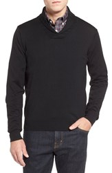 Men's Thomas Dean Shawl Collar Sweater Black