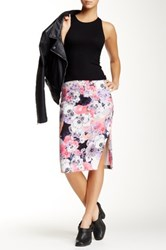 Minkpink Blackout Blooms Midi Skirt Multi
