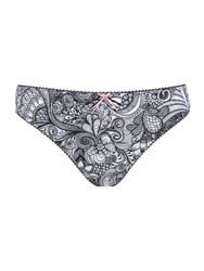Freya Zentangle Thong Monochrome