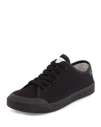 Rag And Bone Rag And Bone Standard Issue Canvas Low Top Sneaker Black Size 42.0B 12.0B
