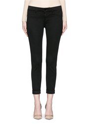 J Brand 'Anja' Luxe Sateen Cropped Pants Black