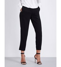 Rag And Bone Tally Cropped Mid Rise Trousers Black