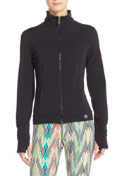 Trina Turk Cutout Back Zip Jacket Black