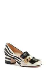 Gucci Women's 'Marmont' Zebra Print Pump Zebra Leather