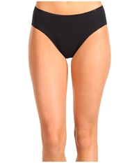 Hanro Cotton Seamless Hi Cut Full Brief 1626 Black Women's Underwear