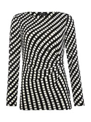 Episode Long Sleeve Jersey Top With Side Buckle Black Multi