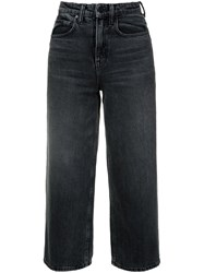 Alexander Wang T By High Waisted Cropped Jeans Grey