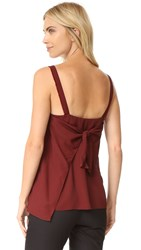 Helmut Lang Back Tie Closure Top Pomegranate
