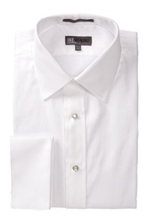 Ike Behar 80S Cotton Pique Tux Dress Shirt White