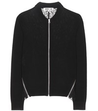 Mcq By Alexander Mcqueen Wool Cardigan With Lace Black