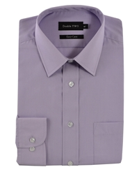 Double Two Classic Plain Long Sleeve Shirt Lilac