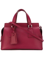 Giorgio Armani Trapeze Tote Pink And Purple