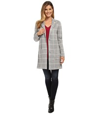 Nydj Window Pane Topper Vanilla Heather Women's Coat Gray