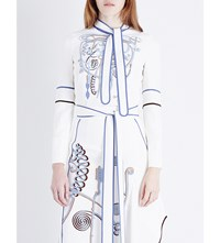 Peter Pilotto Embroidered Crepe Top White