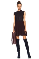 3.1 Phillip Lim Felted Wool Dress With Fading Foil Print In Black Red Ombre And Tie Dye