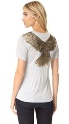 Haute Hippie Eagle Tee Light Heather Grey