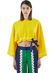 Bobby Kolade Boubou Cropped Top Yellow