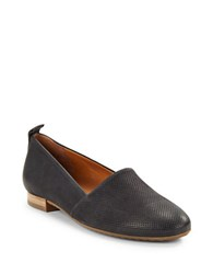 Paul Green Anita Textured Leather Loafers Black