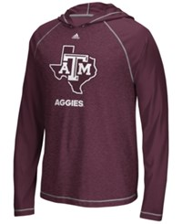 Adidas Men's Texas A And M Aggies Loyal Fan Climalite Hooded Long Sleeve T Shirt Maroon