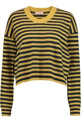 See By Chloe Striped Wool Sweater Yellow