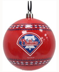Memory Company Philadelphia Phillies Ugly Sweater Ball Ornament Red