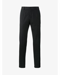 Dolce And Gabbana Cropped Cotton Trousers Black White