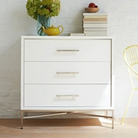 City Storage 3 Drawer Dresser White West Elm