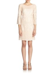 Laundry By Shelli Segal Embroidered Lace A Line Dress Vintage Blush
