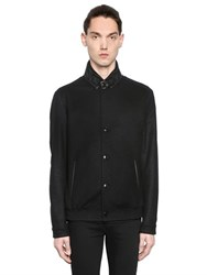 The Kooples Wool Cloth Jacket W Leather Collar