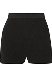 Balenciaga High Rise Crepe Shorts