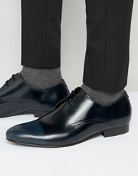 Kg By Kurt Geiger Major Leather Derby Shoes Grey Navy