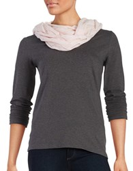 Lord And Taylor Pointelle Cashmere Scarf Pink