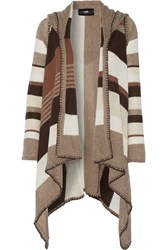Line Shelby Striped Cashmere Cardigan Brown