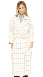 Derek Lam Flannel Trench Coat Ivory