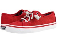 Sperry Jaws Seacoast Sneaker Red Women's Lace Up Casual Shoes