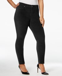 Styleandco. Style Co. Plus Size Velvet Skinny Pants Only At Macy's Deep Black