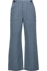 Mih Jeans M.I.H Cropped High Rise Flared Mid Denim