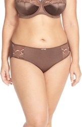 Plus Size Women's Elomi 'Cate' Briefs Pecan