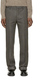 Marc Jacobs Grey And Brown Wool Trousers