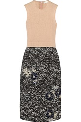 Michael Van Der Ham Embellished Silk Jacquard Dress