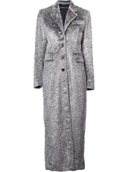 Y Project Textured Single Breasted Coat Grey