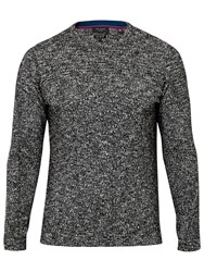 Ted Baker T For Tall Alptt Twisted Stitch Crew Neck Jumper Black White